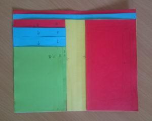 kožený výrobek vytvořený nejprve z papíru