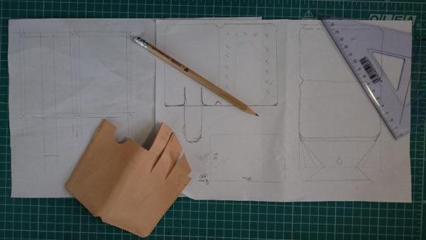 námět rozkreslěný na papír