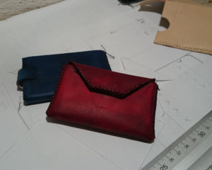 kožený prototyp nového výrobku